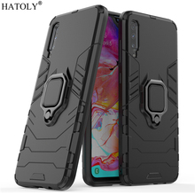 For Samsung Galaxy A70 Case Cover for Finger Ring Hard PC Phone Armor A705F