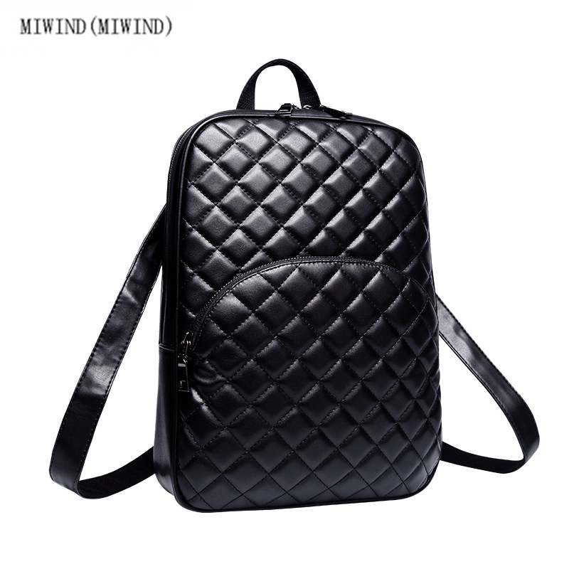 ФОТО MIWIND(MIWIND)New fashion new women shoulder bag female Korean version of the tide top hot Ladies backpack leisure bags