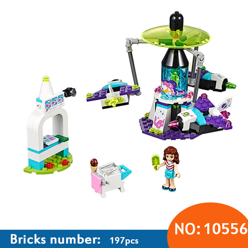AIBOULLY 10556 /01006 Girl Friend Amusement Park Space Ride Building Blocks Set Kids Bricks Gift Toys compatible with 41128 toys in space