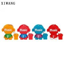XIWANG plastic cartoon music series USB 2.0 4GB 8GB 16GB 32GB 64GB USB music style flash drive usb 3.0 flash stick free shipping