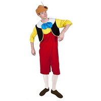 Adult 2017 The Adventures Of Pinocchio Deluxe Cosplay Costume Adult Halloween Fun Suit