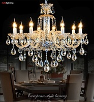 Cognac Crystal Lights Chandelier Luxury Crystal Light Chandelier Fixture Bedroom Living Room Chandelier Crystal Lighting