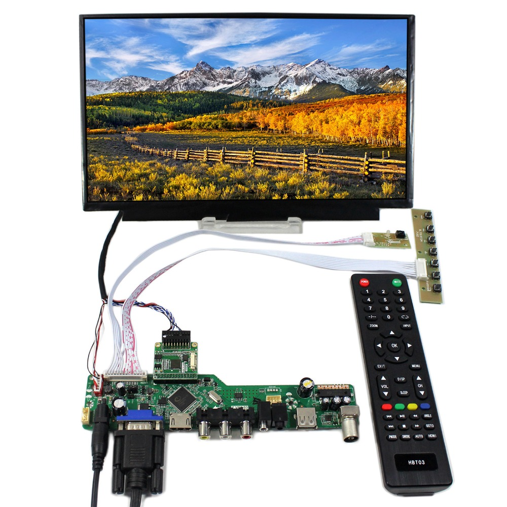 TV HDMI VGA CVBS USB LCD Controller Board With 11.6inch 1920x1080 N116HSE-EJ1 EA1 IPS LCD Screen