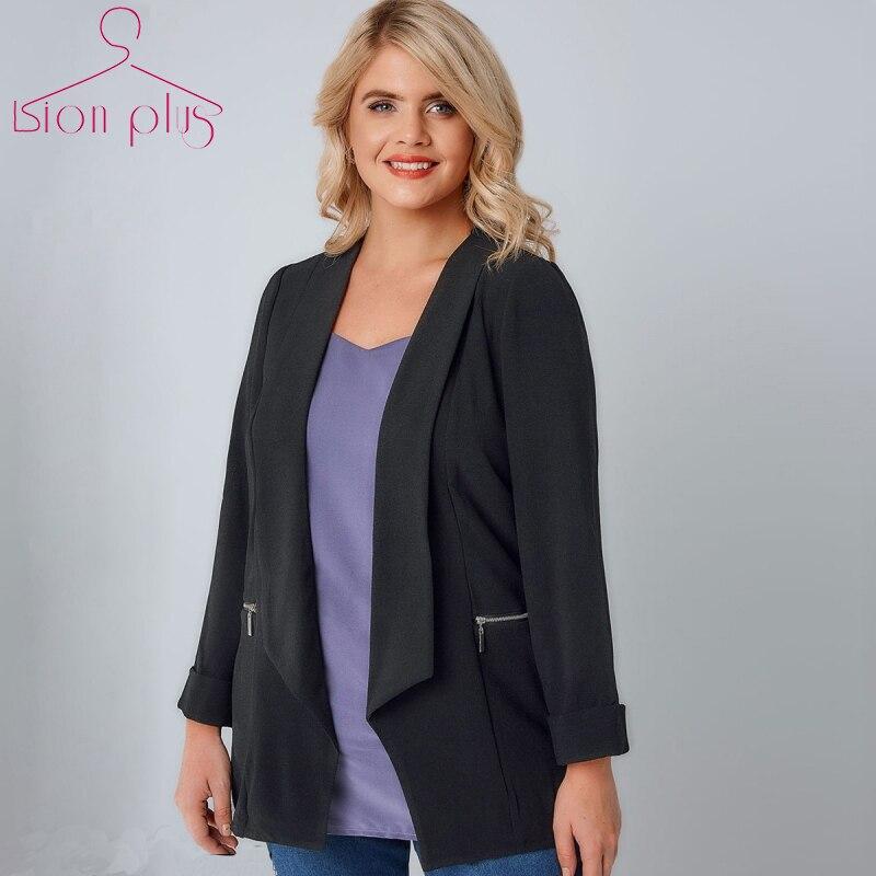 Frauen Kleidung Casual Mode Langarm Slim Fit Blazer Grund Damen Kerb Blazer Plus Größe Mantel 3XL 4XL 5XL 6XL