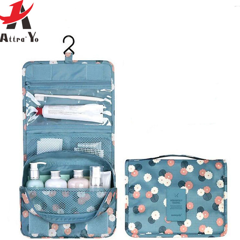 Attra Yo Waterproof Cosmetic Bag Organizer Hanging Wash Toiletry Bath Makeup Bags New