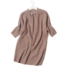 cashmere clips yarn blend knit long cardigan sweater coat