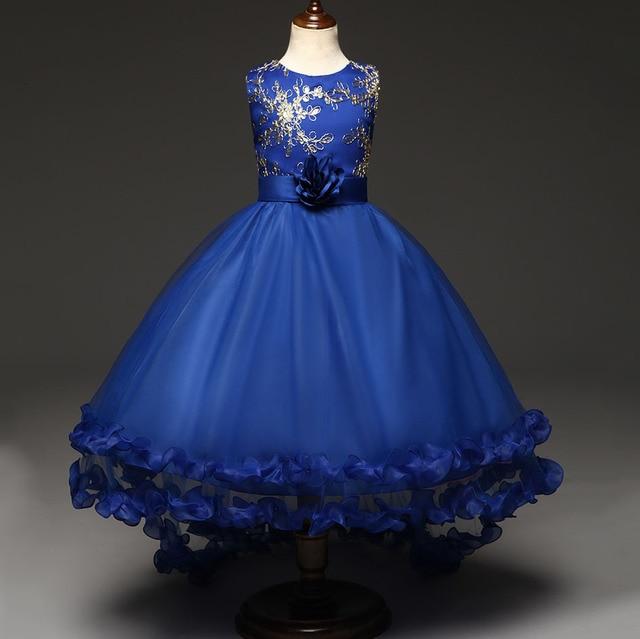 Sommer Kinder Schöne Kleidung Beige Lila Blau Kinder Party Kleid ...