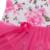 0-2yrs bebê bonito sem mangas vestido de macacão para meninas 3 pcs vestido da cópia da flor 2016 moda verão criança clothing set z208