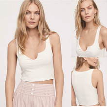 New Arrival Casual Short White Women Tank Tops Summer Solid Loose Cotton Camis Sex Crop Top Shirt Sleeveless