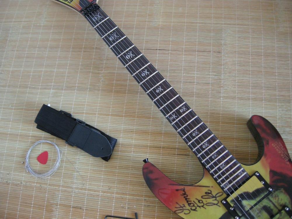 Factory Custom Shop 2017 new Top Quality E S P KH2 M-II Mummy Karloff Tlmummy Electric Guitar Green