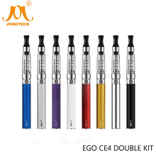 JomoTech Ego Ce4 Double Starter Kit eGo Rechargeable 1100mAh eGo T Battery Ce4 Clearomizer Electronic Cigarette