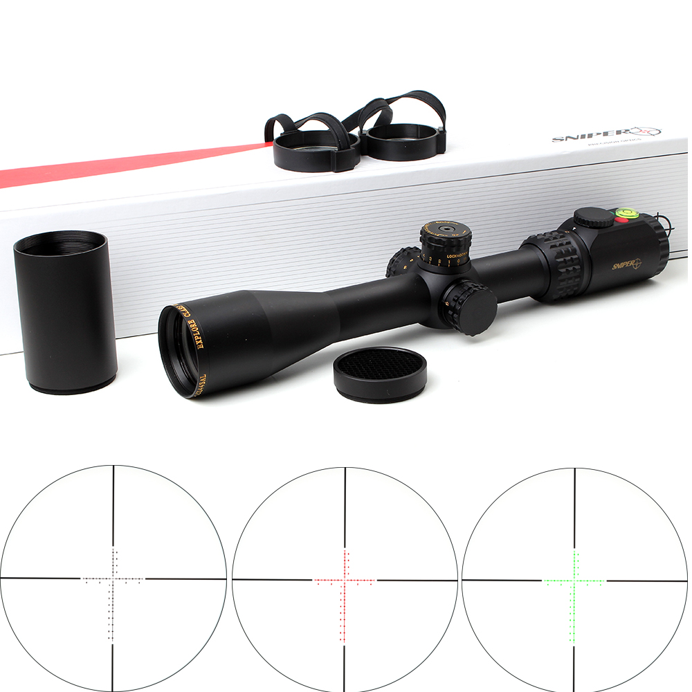 Tactical SNIPER WKP 6-24X50 SAL Rifle Scope Side Parallax Adjustment Glass Etched Reticle RG Illuminated with Bubble Level цена