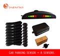 8 Sensors Car LED Parking Sensor Assistance Reverse Backup Radar Monitor System Backlight Display for free shiping