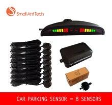 8 Sensors Car LED Parking Sensor Assistance Reverse Backup Radar Monitor System Backlight Display for free shiping