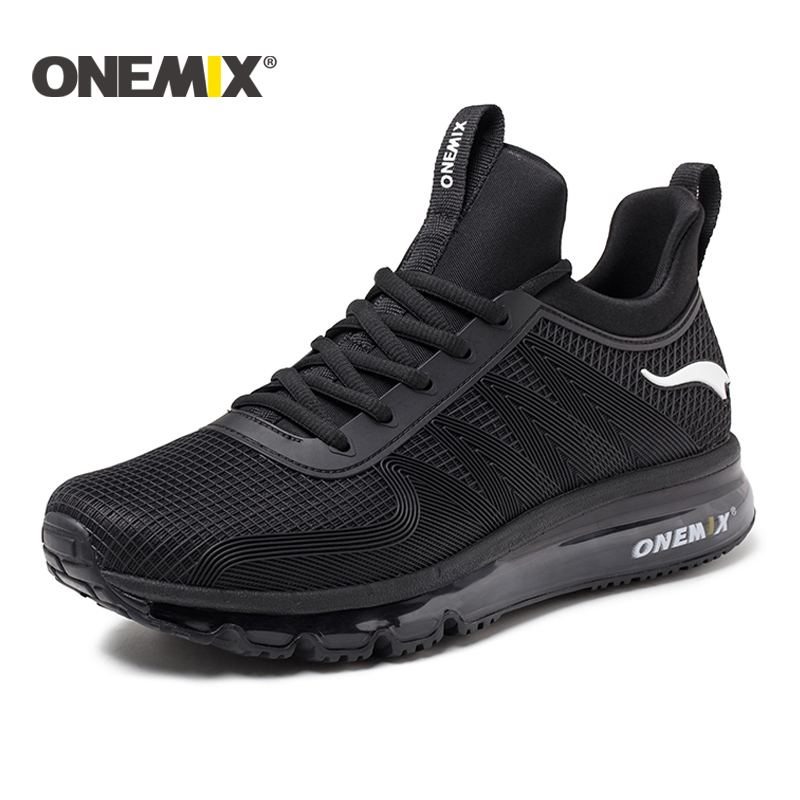 ONEMIX 2017 running shoes for men air cushion high top shock absorption sports sneaker light outdoor walking jogging shoes women onemix running shoes for men high top sneakers couple outdoor walking boots multifunction trekking sneaker women free shipping