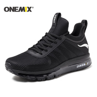 ONEMIX 2017 Running Shoes For Men Air Cushion High Top Shock Absorption Sports Sneaker Light Outdoor