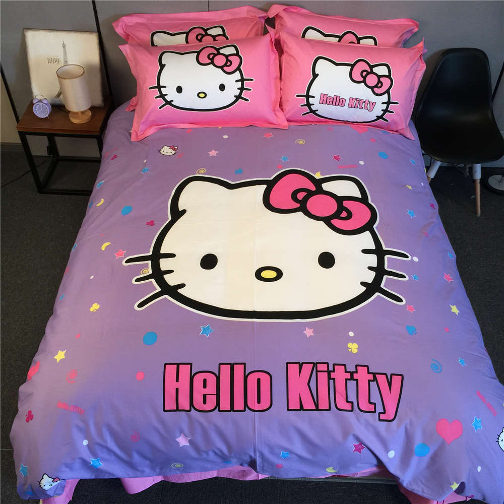Hello Kitty forter Queen Pcs Red Cute Kids Hello Kitty