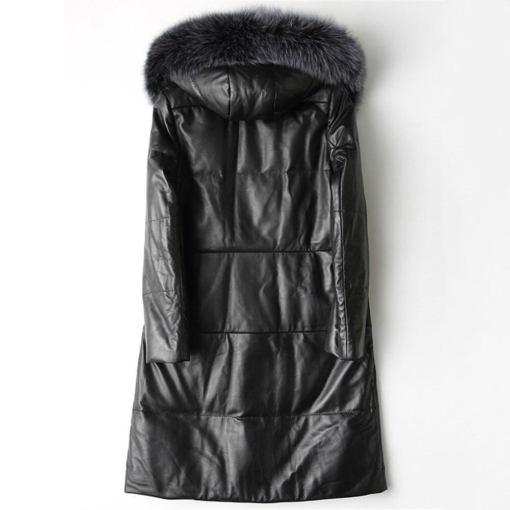 Parkas Bas En Grande Mode Automne Chaud De Survêtement Mouton 2018 Nouveau Femmes Capuche Black Qualité Le D'hiver Taille Haute Veste Vers Col Fourrure À Fox Peau AxxqFE1X