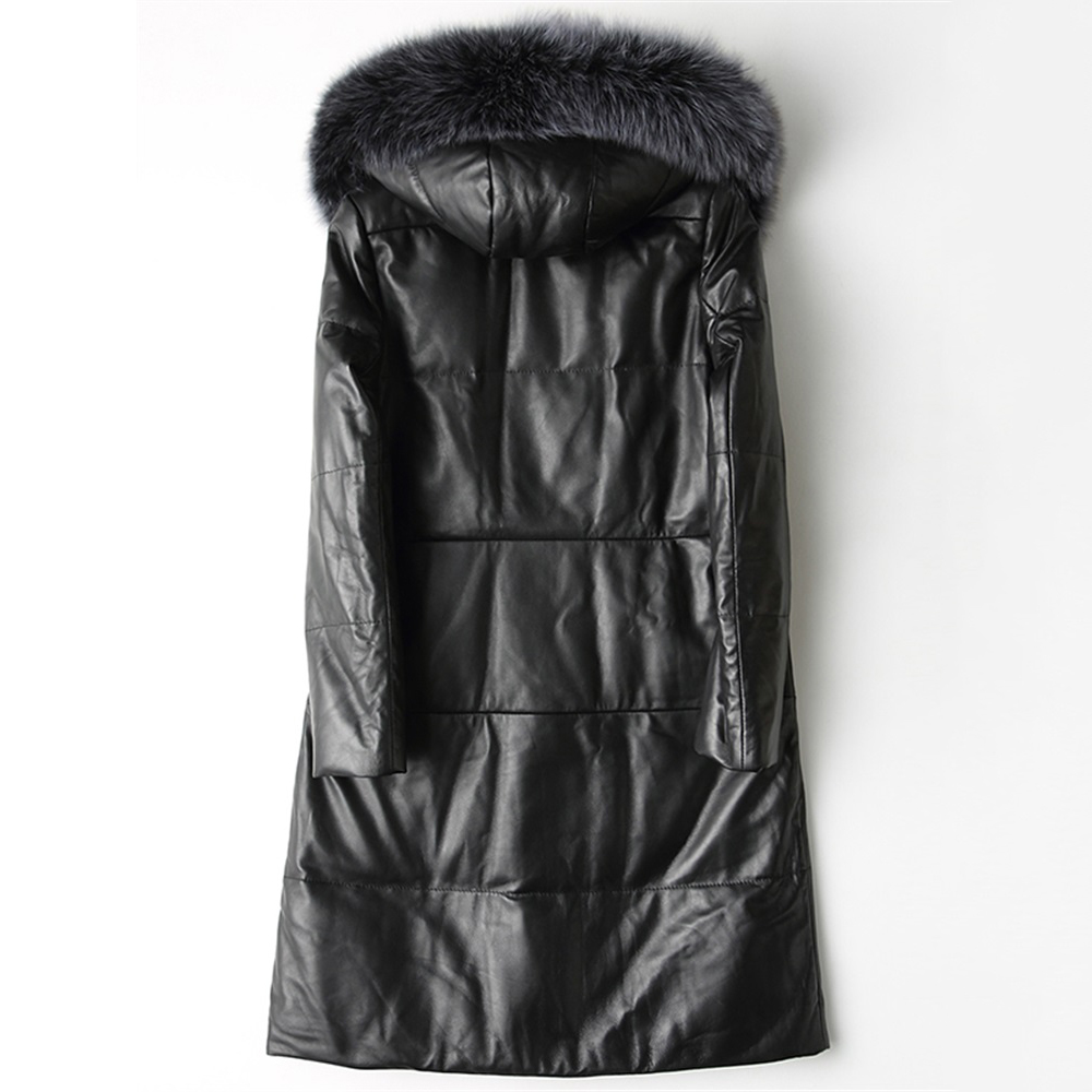 Autumn Down Jacket Women Parkas 2018 New Fashion High Quality Hooded Fox fur collar Winter Warm Large size Sheepskin Outerwear