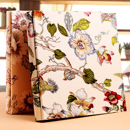 Us 64 29 Cotton Jacquard 850pcs Photo Album Wedding Baby Memory Record Diy Large Capacity Album Photo Book For 5 6 7 8 10 Inch Pictures In Photo