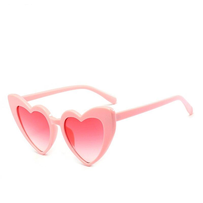 MOONBIFFY, Heart Sunglasses Women designer Cat Eye Sun Glasses Retro Love Heart Shaped Glasses Ladies Shopping Sunglass UV400