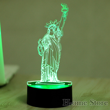 cheap 7 Color The Statue of Liberty Lamp 3D Visual Led Night Lights for Kids Touch USB Table Lampara  Lampe Baby Sleeping Nightlight,image LED lamps offers