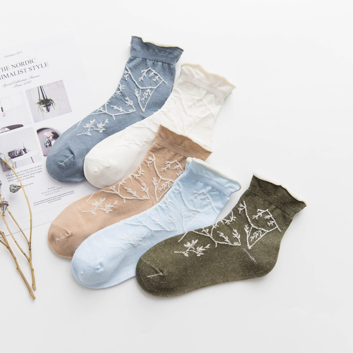 2019 New Korea Spring Summer Fashion Simple Jacquard Harajuku Female Socks Women Cotton Funny  Socks Calcetines Sox
