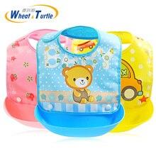 Newborn Cartoon Waterproof Aprons Baby Bibs For Boy Girl Burp Cloths New Design Feeding Saliva Towel for baby care