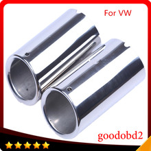 цена на New Chrome Stainless Steel Exhaust Tail Car Rear Muffler Tip Pipe Molding for VW Passat CC 2008 2009 2010 2011 2012 tail pipe
