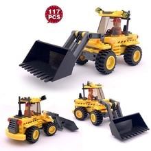 Engineering Building Blocks Compatible Legoing City Truck Excavator Bulldozer Vehicle Construction Toys For Children цены