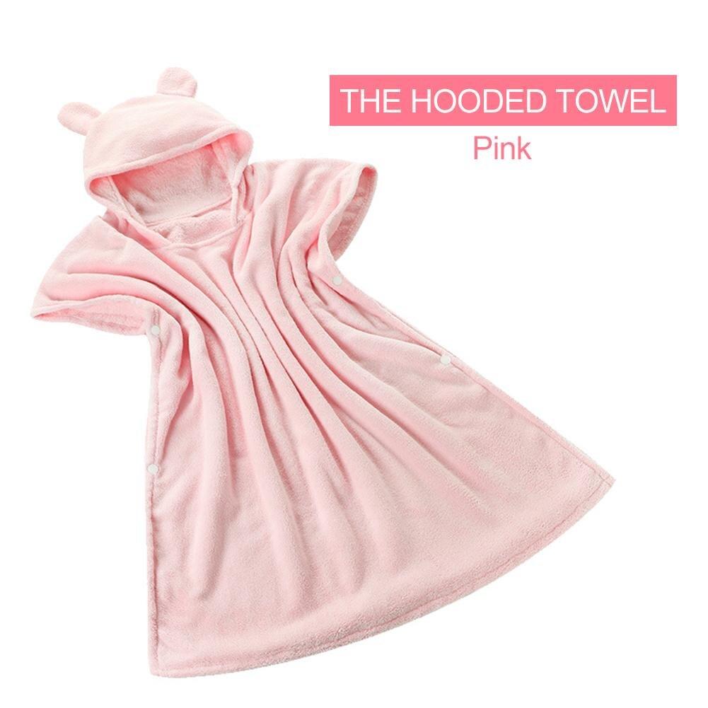 Baby Bath Towel Hooded Cap Childrens Bathrobe Absorbent Hooded Baby Bath Towel Super Soft Newborn Towel for1-8 years old