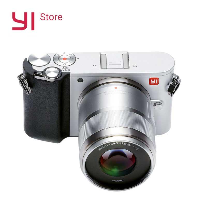 YI M1 Mirrorless cámara Digital primer Zoom dos lente LCD minimalista materias primas 20MP grabadora de Video 720RGB VERSIÓN INTERNACIONAL