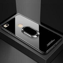 Xiaomi Mi מקסימום 2 מקרה עבור Xiaomi Mi Max2 3 9 8 10 Se A3 לייט פרו מקרה כיסוי יוקרה מזג זכוכית מגנט רכב מחזיק TPU מקרי