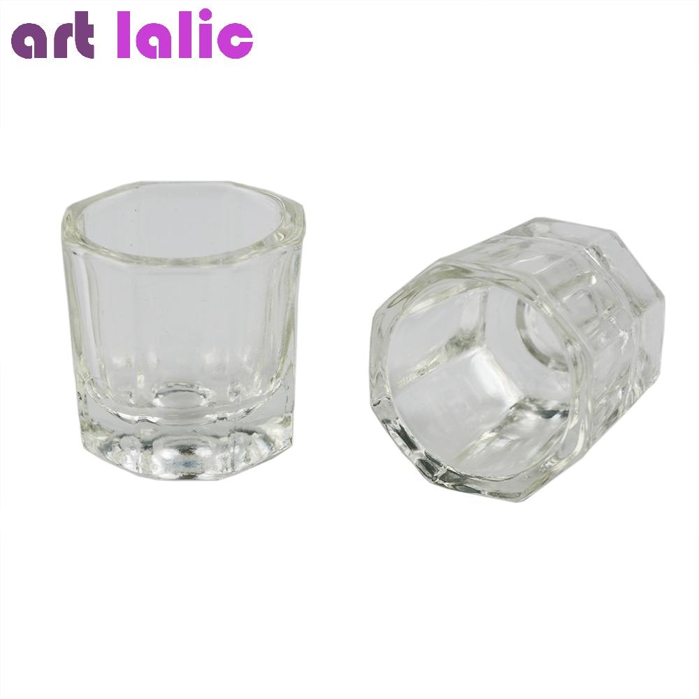 Artlalic 1 Stücke Kristall Glas Dappen Dish/deckel Schüssel Tasse Kristall Glas Dish Nail Art Werkzeuge Acryl Nail Art Ausrüstung Mini Schüssel Tassen