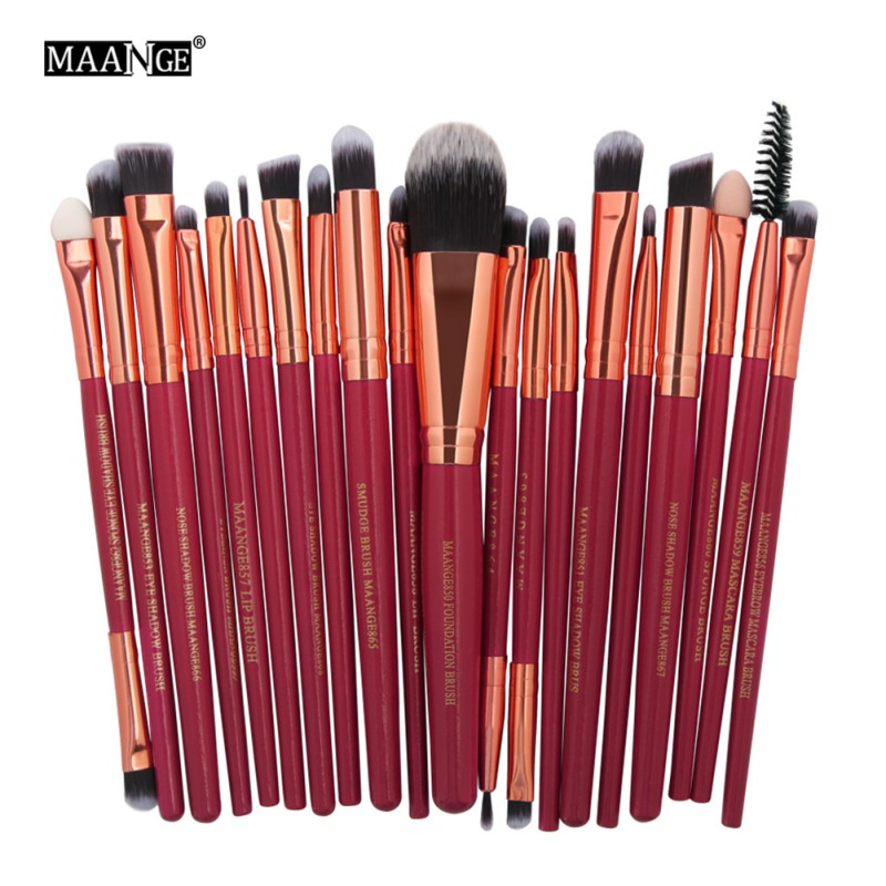 KRYESORE 20 copë Brushes profesionale kozmetike Vendosni Kozmetikë - Grim