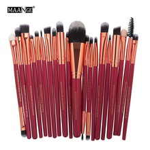 MAANGE 20 Pcs Profesional Makeup Brushes Set Kosmetik Lembut Make up Brush Kosmetik Kecantikan Alat maquiagem