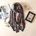 Nuevo jardín de moda de alto grado elegante temperamento salvaje impresión de seda patrón caballo Pentium cálido chal bufanda grande femenina de las mujeres