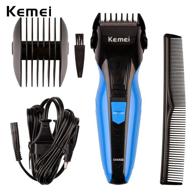 Kemei Rechargeable Hair Clipper Men Electric Professional Hair Trimmers Razor Shaver Beard Shaving Cutting Machine Kit