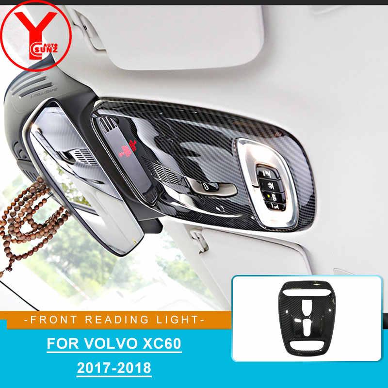 Couvercle de lampe de lecture avant en fibre de carbone pour volvo xc60 2017 2018 accessoires pièces de voiture intérieures pour volvo xc60 2019 ABS YCSUNZ