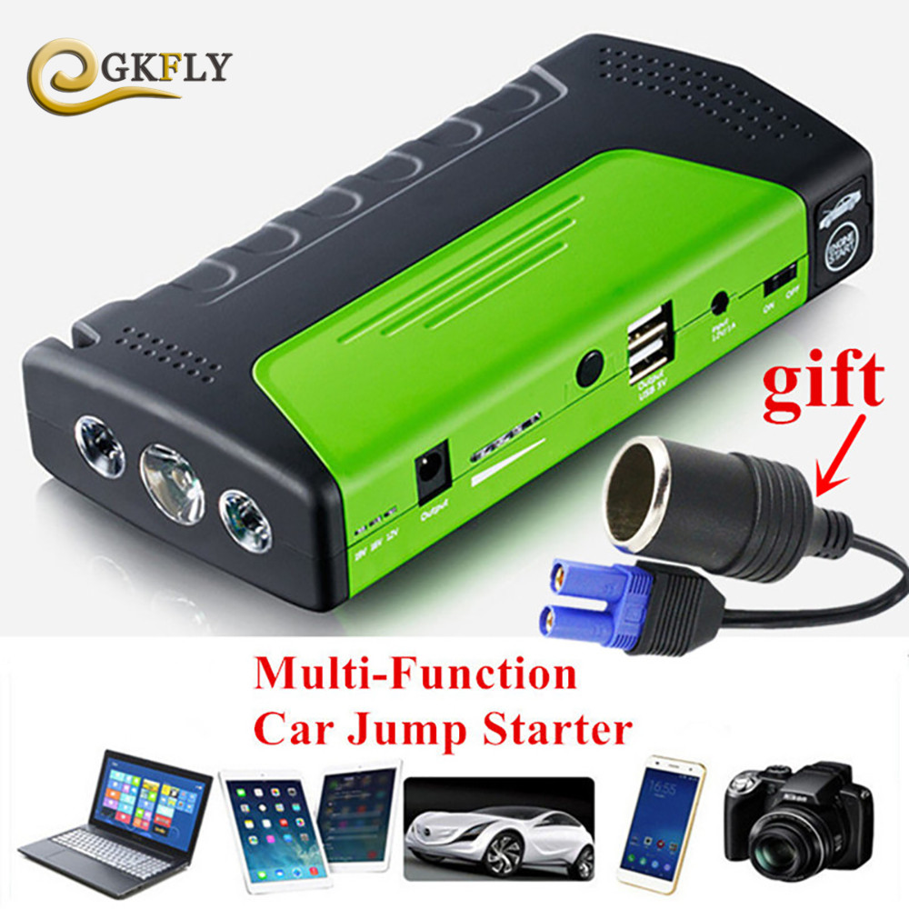 Promotion Multi-Function Mini Portable Emergency Battery Charger Car Jump Starter Booster Power Bank Starting Device for Camping