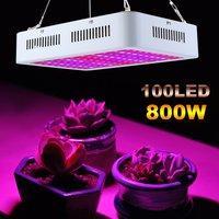 CA 85-265V invernadero Luz de crecimiento doble Chip de espectro completo lámpara fluorescente 800W LED planta de crecimiento de luz enchufe de la UE