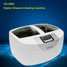 Бесплатная доставка по DHL 2.5L CD-4820 Нержавеющей Стали Цифровой ультразвуковой очиститель для Ювелирных Изделий очистки Воды Функция Подогрева