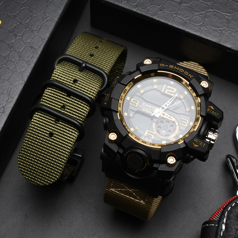 NATO Nylon Watch Strap For G-SHOCK GWG-1000GB Accessories Modification For Top Brand Watch Band For Casio Watch