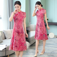 2019 cheongsam dress lace wedding qipao women traditional chinese costume oriental style evening dresses qipao chinese dress