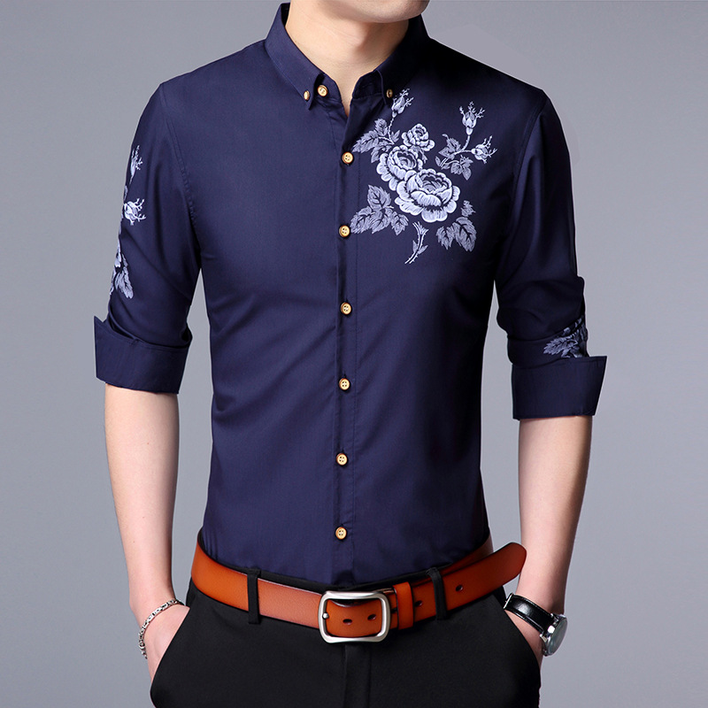 Fashion Brand Men Clothes Slim Fit Men Long Sleeve Shirt Men Cotton Casual Men Shirt Soc ...