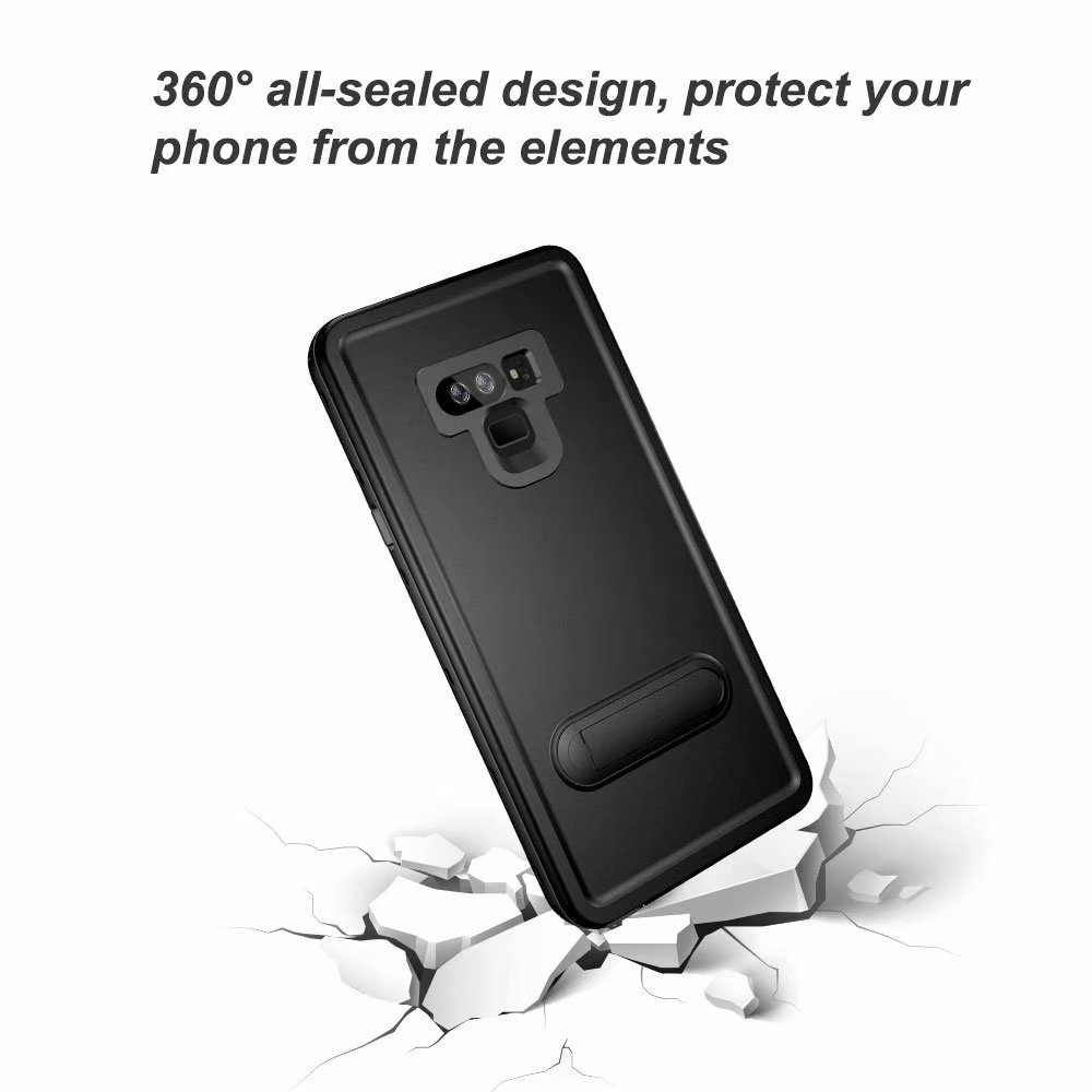Wholesales 20pcs lot 360 Sealed IP68 Shellbox Waterproof Case for Note8 Note9 2m Underwater Diving Full Body Protective in Fitted Cases from Cellphones Telecommunications