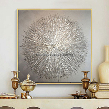 Silvery Acrylic Canvas Painting hand painted abstract painting Nordic Style Quadro Caudro Decoration Wall Art for Living Room
