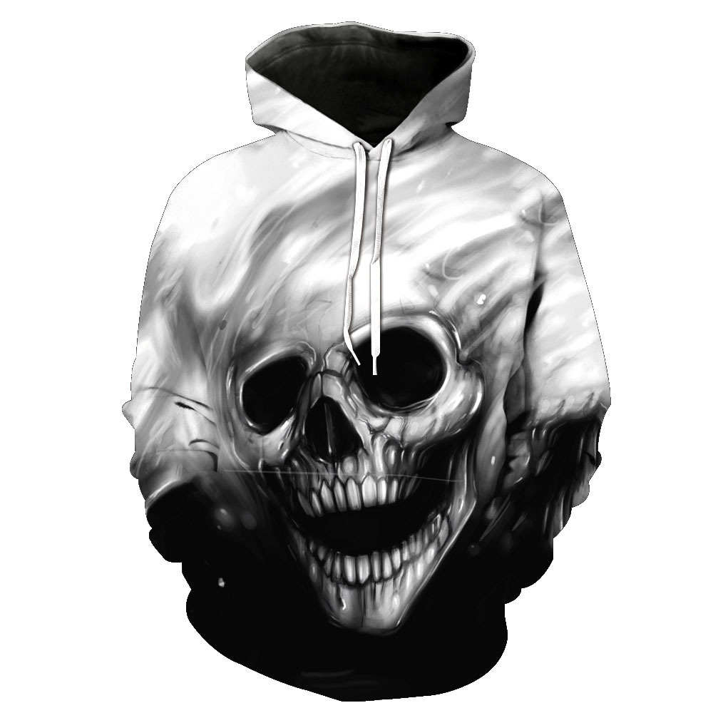 TUNSECHY NEW 2018 Autumn Winter Fashion Men/women Hoodies Red Eyes Skull Head Hooded Hoody Sweatshirt 3D Lovely Tracksuits