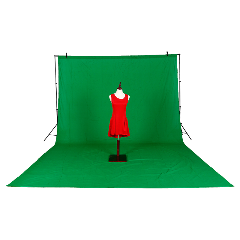High quality 3M X 6M Cotton Chromakey Green screen Muslin background cloth backdrop For Photo lighting studio леггинсы adidas performance adidas performance ad094eguoj09
