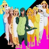 Adults Unisex Onesie Kigurumi Unicorn Giraffe Stitch Dinosaur Totoro Spyro Dragon Pikachu Panda Tiger Pajamas Cosplay